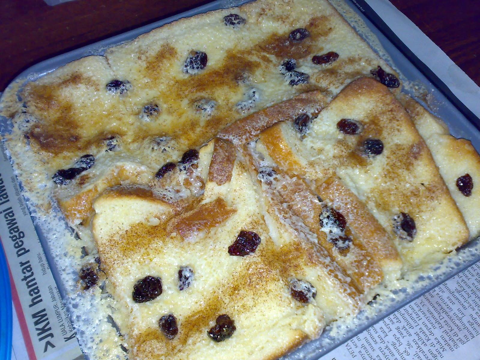 Resepi Puding Roti Bakar