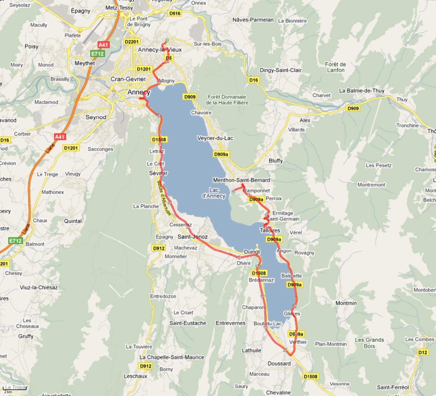 Running my second job and passion Annecy Tour du Lac marathon