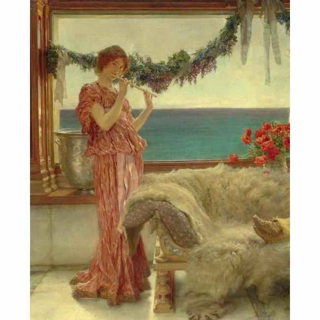 British paintings sir lawrence alma tadema melody on a for 1600 19th terrace lawrence ks