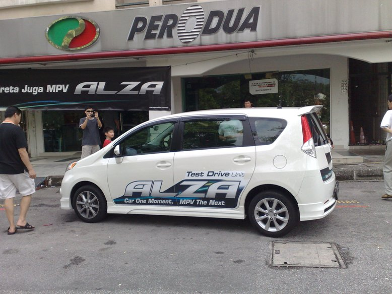 The rear of the car look like Perodua Myvi.