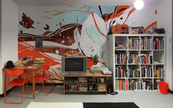 Cozyhouse Interior Design Large scale Wall murals Design ideas by famous Gra -> Design Mural