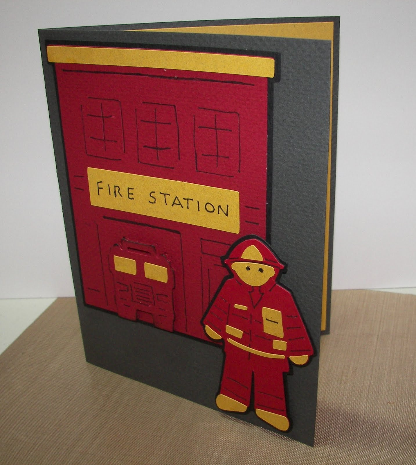 I Needed To Make My Daughters Boyfriend A Birthday Card He Is Volunteer Firefighter In His Hometown So Decided Him Fireman