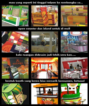 Outlet Makanan di Mall dan Booth Outdoor