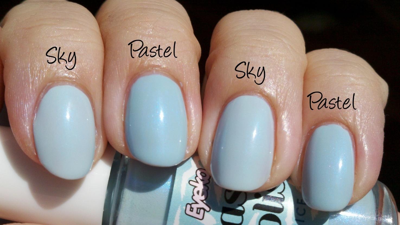polish insomniac: Light Blue Comps - Part II (Chanel Riva Dupes)
