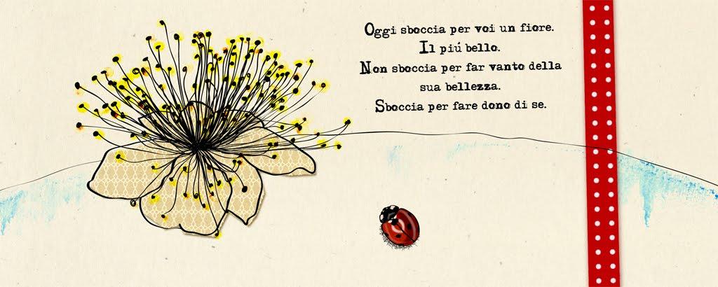 Per i migliori auguri, un fiore di mirto, simbolo dell'amore nell