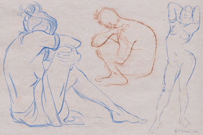 Line Drawings From D Models : Michael daley life drawings nudity