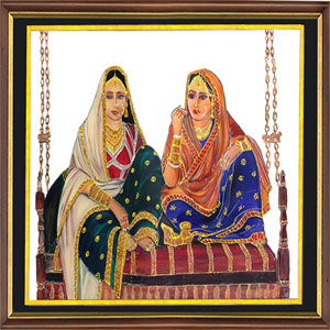 Indian glass paintings buy rajraniyan glass indian for Buy mural paintings online