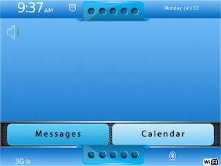 BlackBerry Themes Basic Blue Home Basic Blue BlackBerry Curve 8520/8530 Theme