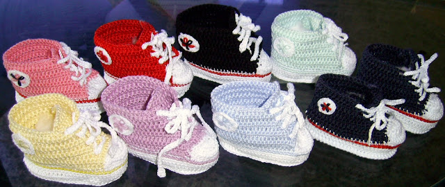 Pin Zapatos Tejidos Bebe Crochet Detalles Dpa Genuardis Portal on ...