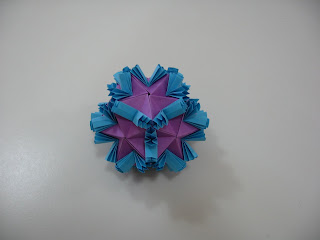 Tomoko Fuse Floral Origami Globes Purple and Blue Butterflies Type III