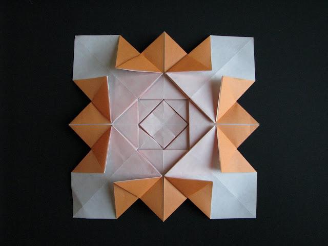 Shuzo Fujimoto Orange 5-layer Hydrangea Tessellation reverse side