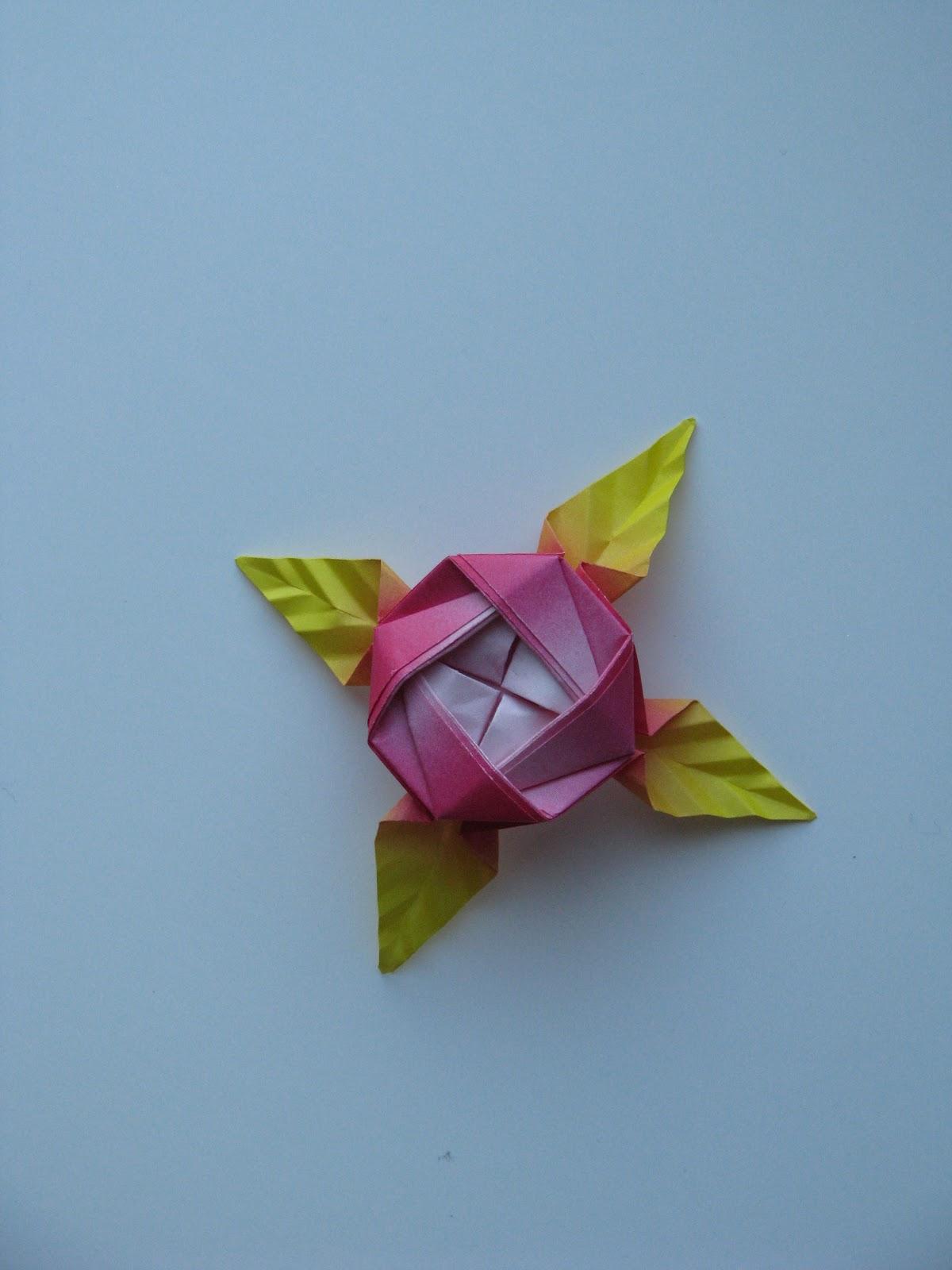 Stephen s Origami Origami Valentine Flowers