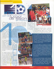 10mo ANIVERSARIO DEL FUTBOL DE SALON