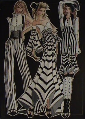 my first fashion drawing in parsons 1st year