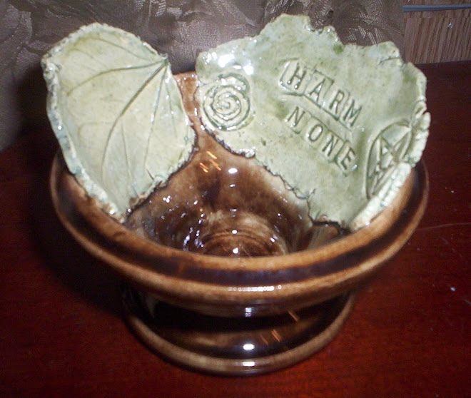 HARM NONE leaf bowl
