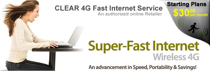 Clear High Speed Mobile 4g Wireless Internet Service With