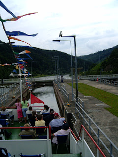 boat approaching gate