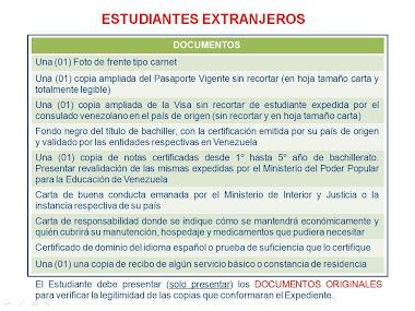 Documentos Para Extranjeros