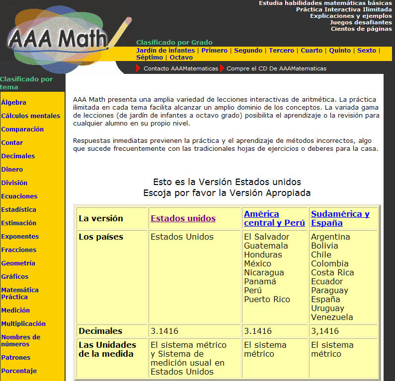 Mommy maestra 2010 free math lessons in spanish and english fandeluxe Images