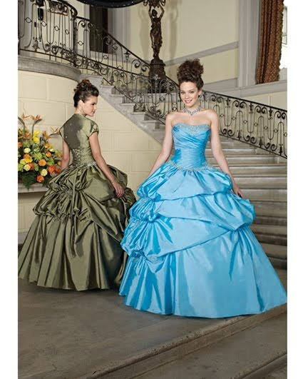 Vestido de 15 años – Color Celeste/Turquesa | Vestidos de 15 años 2012