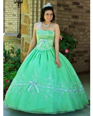 Vestido de 15 años - Color Verde