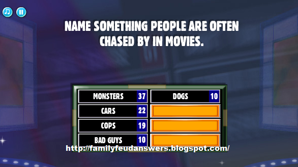 Name something people are often chased by in movies