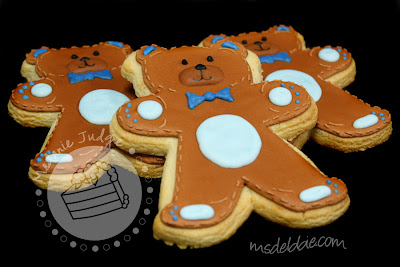 bear cookies baby shower boy