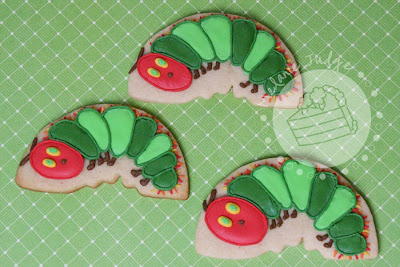very hungry caterpillar cookie