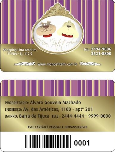Cartão de vantagens Mon Petit Ami
