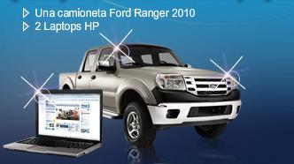 Premios Promocion Bancomer camioneta Ford Ranger XL 4 puertas 2010 Laptop HP CPQ610
