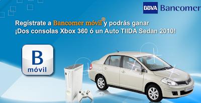 Premios Promocion Bancomer Movil TIIDA Sedan 2010 consola xbox 360 arcade