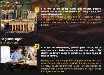 premio promocion whisky festival viaje escocia y cenas Mexico