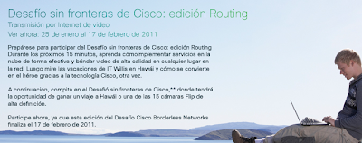 promocion cisco Mexico 2011 concurso El Cisco Borderless Challenge