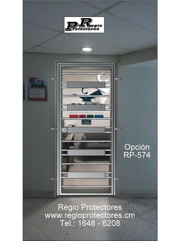 Regio Protectores, Diseño de reja para oficina PAE, Opción RP-574