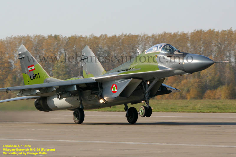 Novos caças para a Força Aérea Libanesa