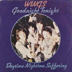 Paul McCartney & Wings Goodnight Tonight 12-inch cover