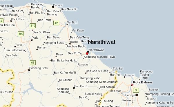 Narathiwat Thailand  City new picture : Nikah di Narathiwat Thailand: Peta