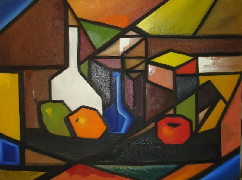 Wania v domiciano algumas obras cubistas 2005 for Cuadros con formas geometricas