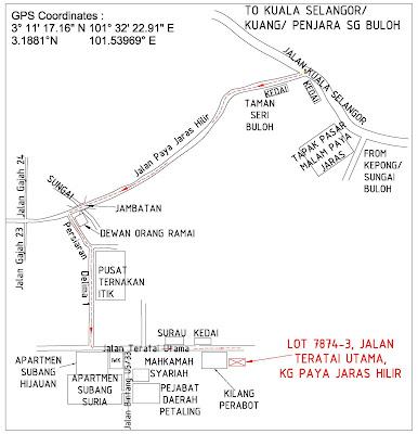 Laluan dari subang airport/ kota damansara/ shah alam