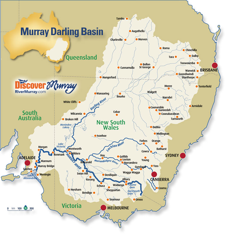Australia - An Island Continent: The Murray-Darling River System