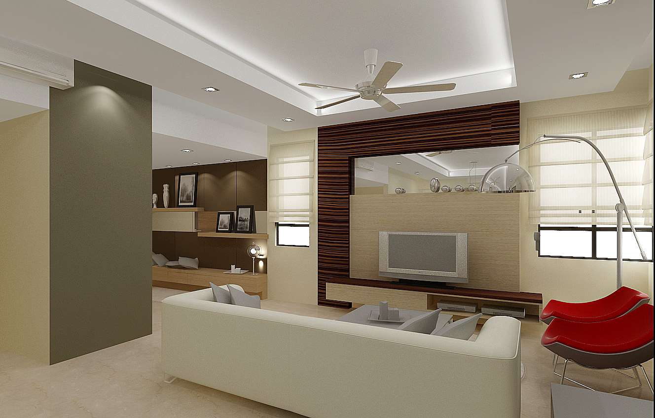 Interior design living hall in malaysia living room for Living hall interior design
