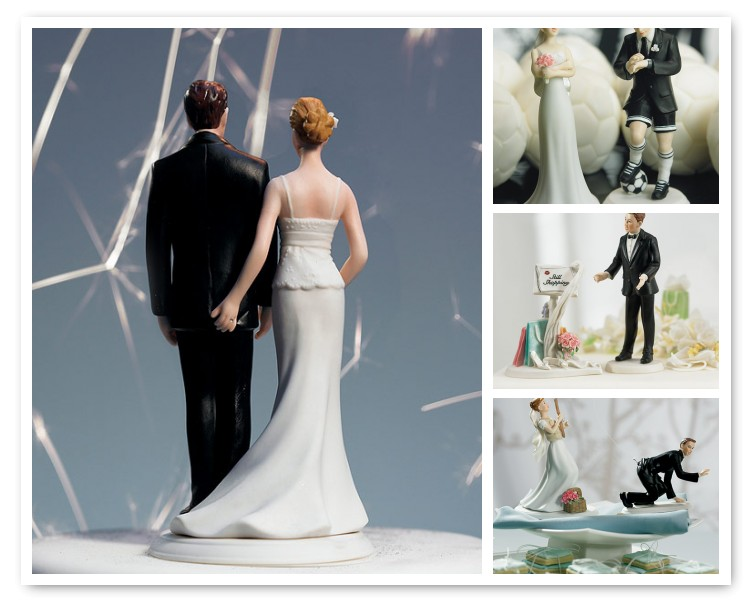Humorous Wedding Cake Toppers make a real statement about who you are