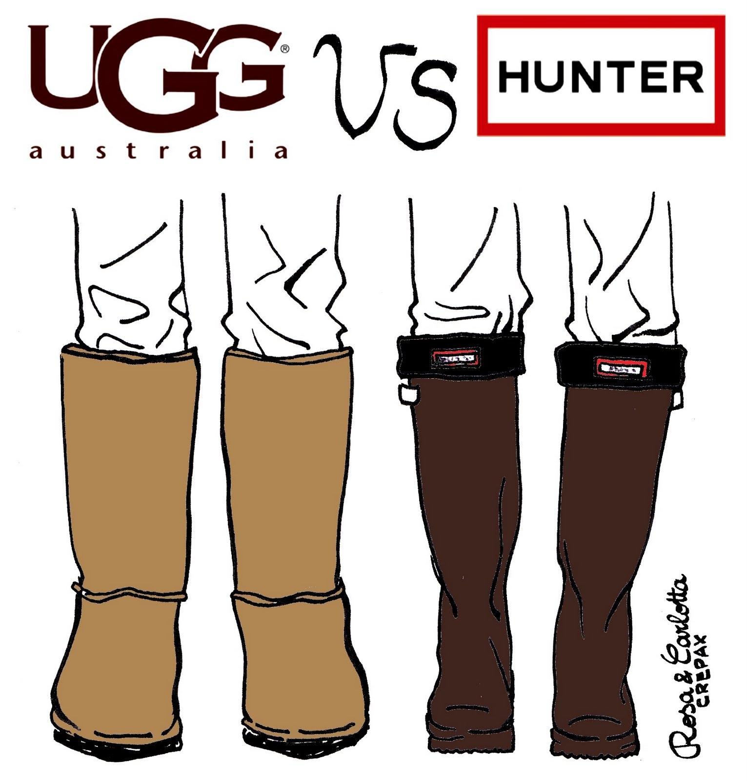 Rebecca, UGG vs HUNTER