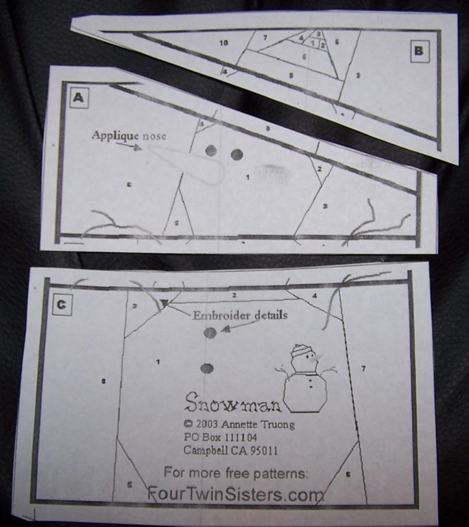 Craftideas.info - Free Pattern - 3D Paper Snowman