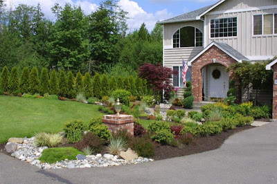 super modern residential landscape architecture design, home gardens design