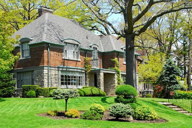 luxury home gardens modern front