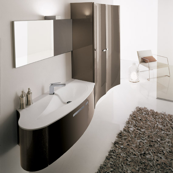Modern bathroom design wash basin sinks for Baignoire couleur beige