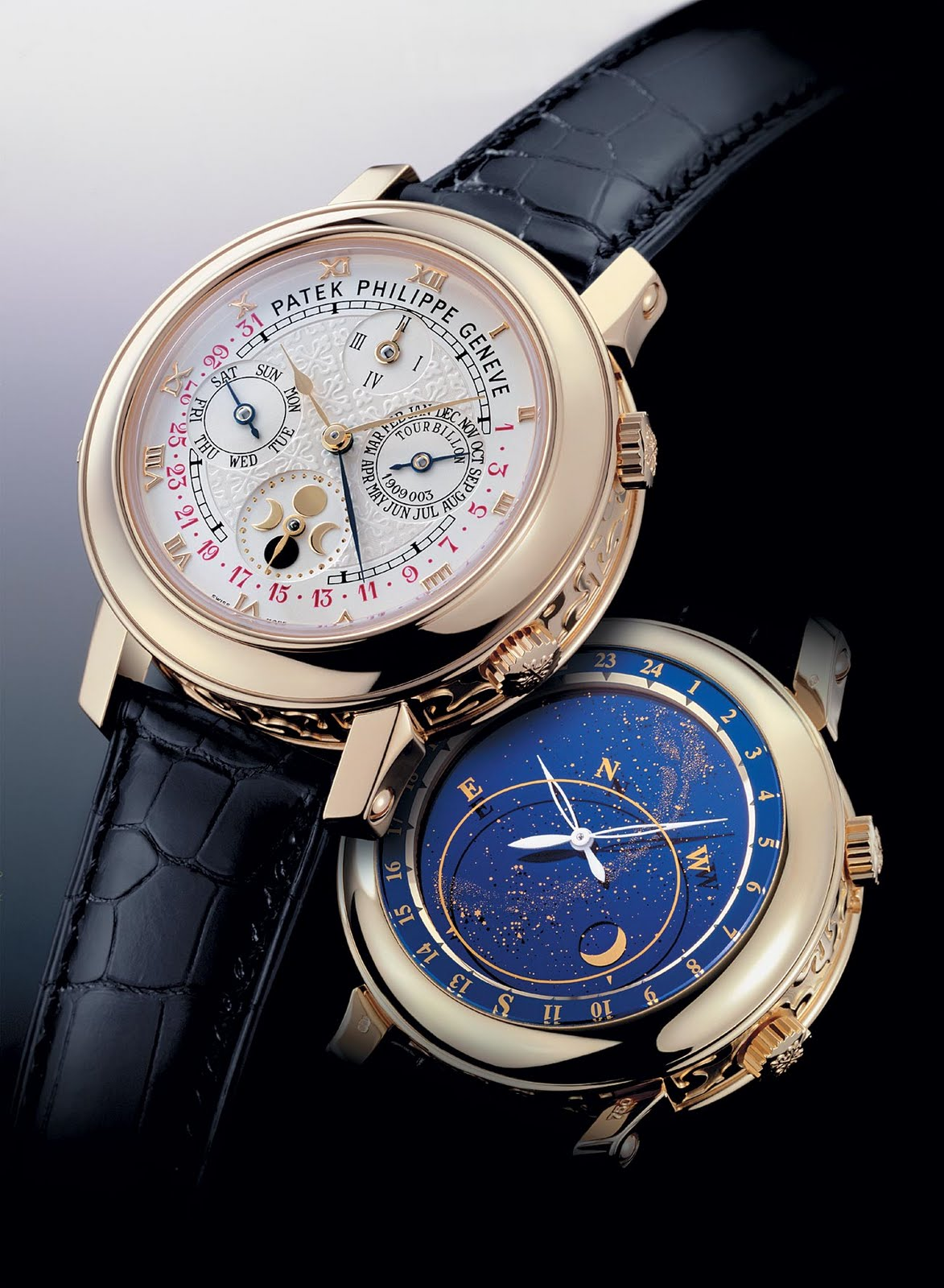 Patek philippe sky moon tourbillon ref 5002 most expensive watch in the world for Patek phillipe watch