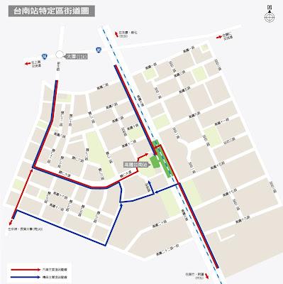 臺灣高鐵車站地圖台南站