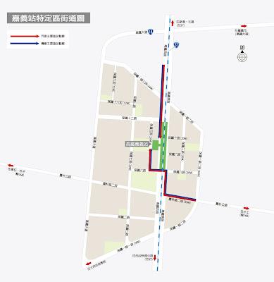 臺灣高鐵車站地圖嘉義站